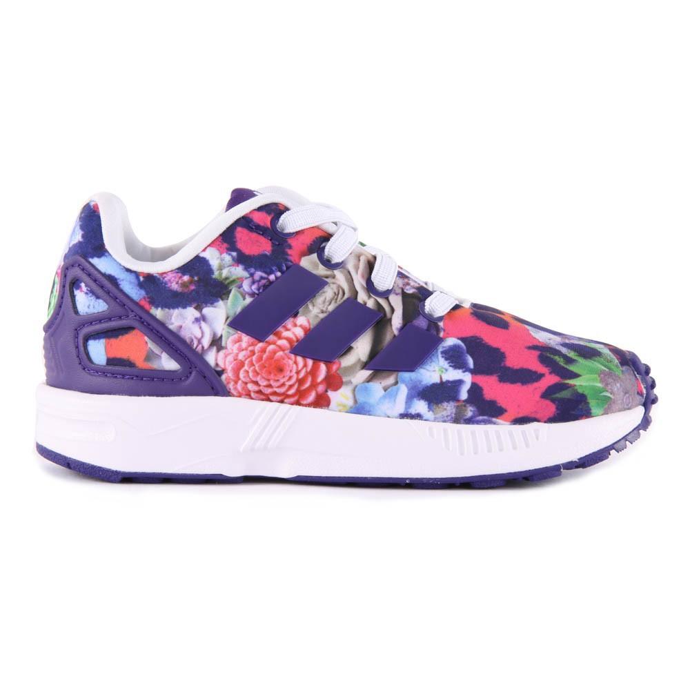 leopard print elastic lace zx flux trainers purple adidas shoes. Black Bedroom Furniture Sets. Home Design Ideas
