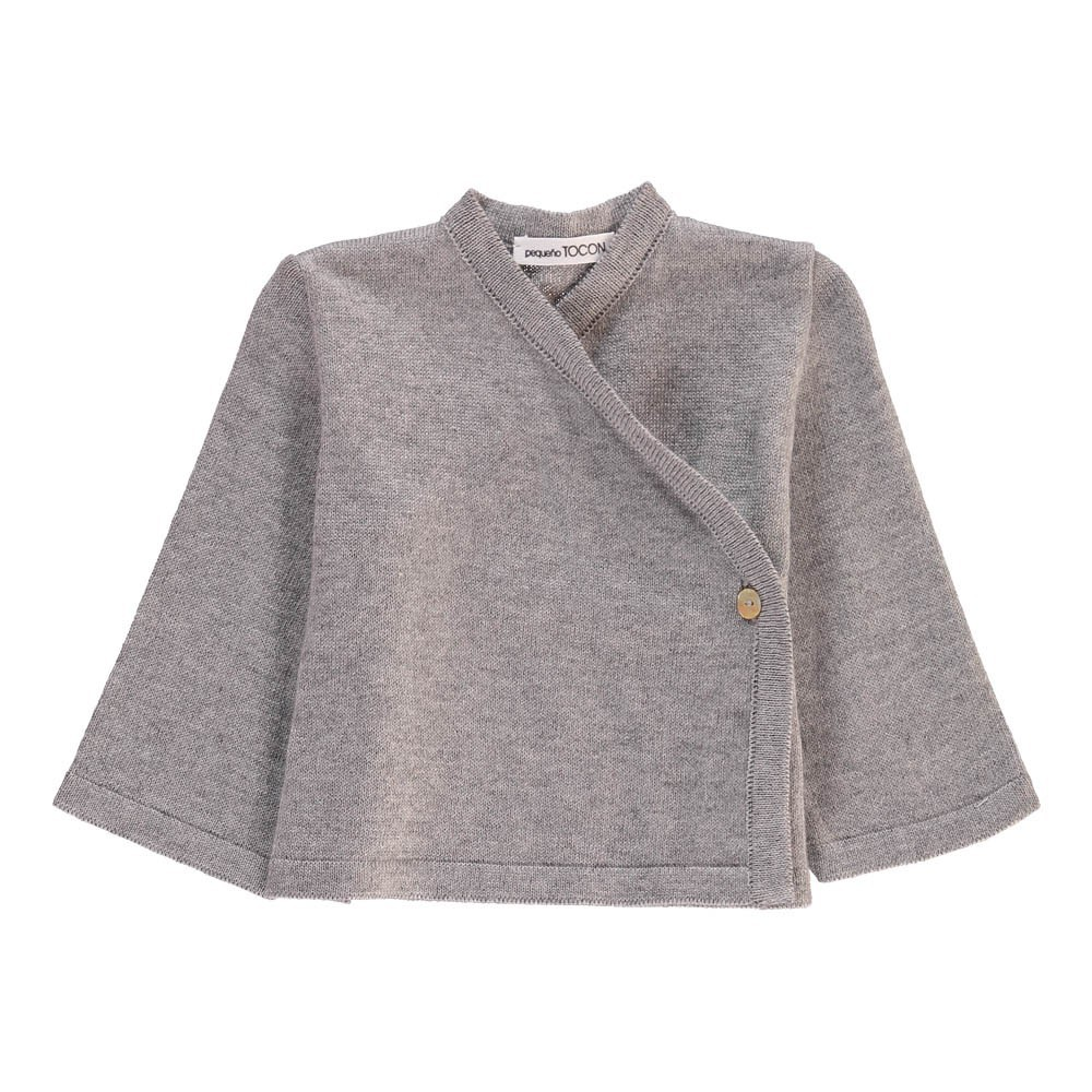Wrap Cardigan Grey Pequeno Tocon Fashion Baby