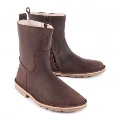 Diggers Wool Lined Leather Ankle Boots with Zip-listing