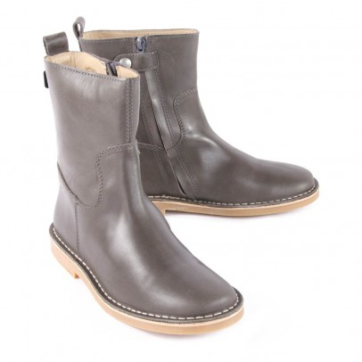 Diggers Leather Boots with Zip-listing