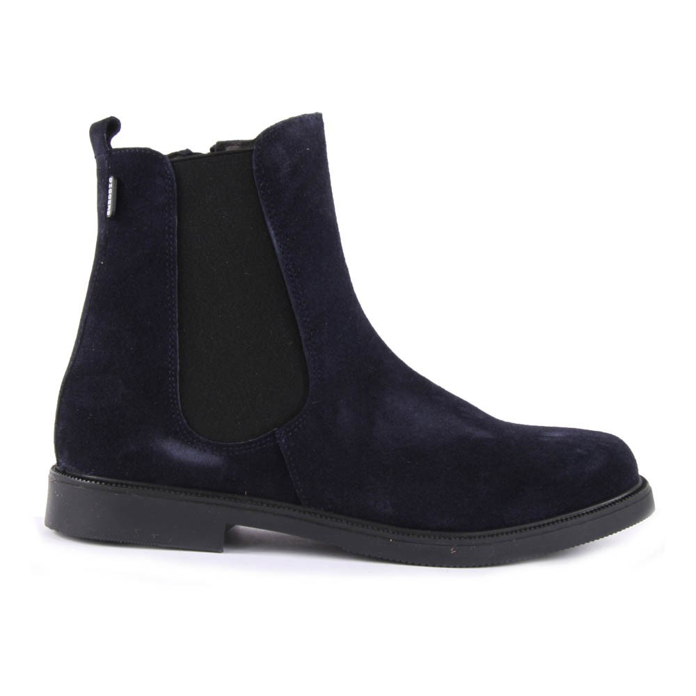 Amille Suede Boots with Zip Navy blue Little Mary w7h8ak