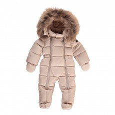 product-Il Gufo Winter Baby Jumpsuit Hood