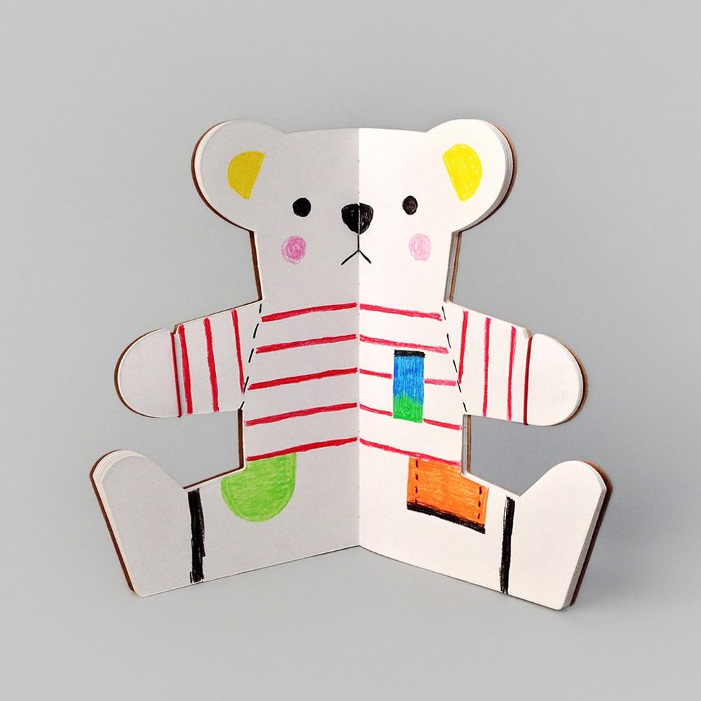 Libro para colorear oso Multicolor Rock and Pebble Juguetes y