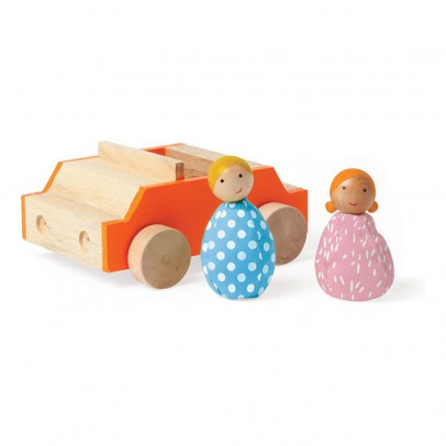 The Manhattan Toy Company Voiture avec 2 personnages-listing