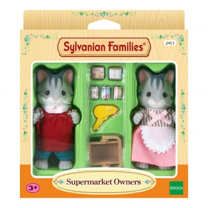 Sylvanian Grey Cat Shop Owners-listing