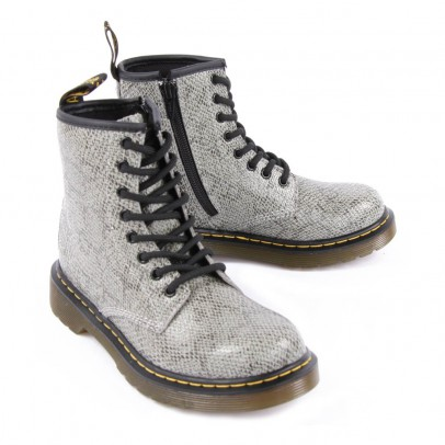 Dr Martens Delaney Snakeskin Effect Leather Boots with Zip-listing
