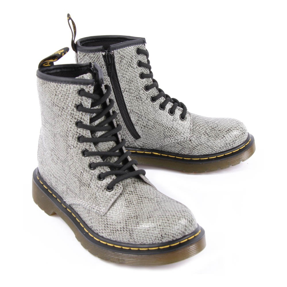 Sale - Delaney Snakeskin Effect Leather Boots with Zip - Dr Martens Dr. Martens Under 50 Dollars Outlet Low Cost Ifb71R