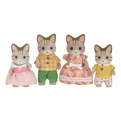 Sylvanian Striped Cat Family-listing
