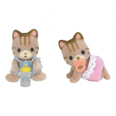 Sylvanian Striped Cat Twin Babies-listing