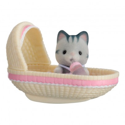 Sylvanian Baby Carry Case Cat in Cradle-listing