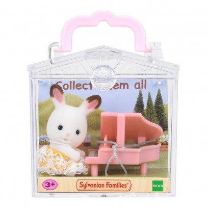 Sylvanian Baby Carry Case Rabbit and Piano-listing