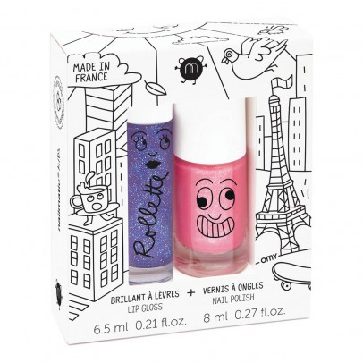 Nailmatic Kids Lovely City Nail Varnish and Gloss Rollette Duo-listing