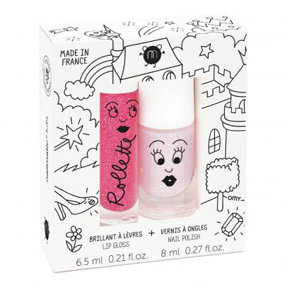 Nailmatic Kids Fairytales Nail Varnish and Gloss Rollette Duo-listing