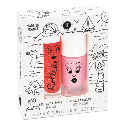 Nailmatic Kids Holidays Nail Varnish and Gloss Rollette Duo-listing