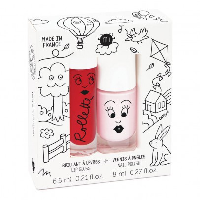 Nailmatic Kids Cottage Nail Varnish and Gloss Rollette Duo-listing