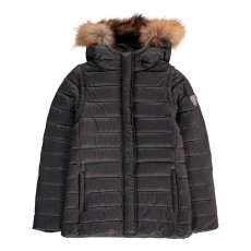 product-Gertrude + Gaston Little Olga Down Jacket with Fur-Lined Hood and Detachable Sleeves