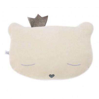 Doudou coussin chat avec couronne 28x20 cm