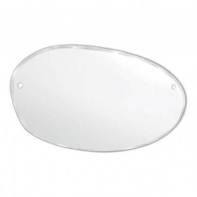 M Nuance Extra Thin Bevelled Mirror - Random Horizontal Oval Form 100x60 cm -listing
