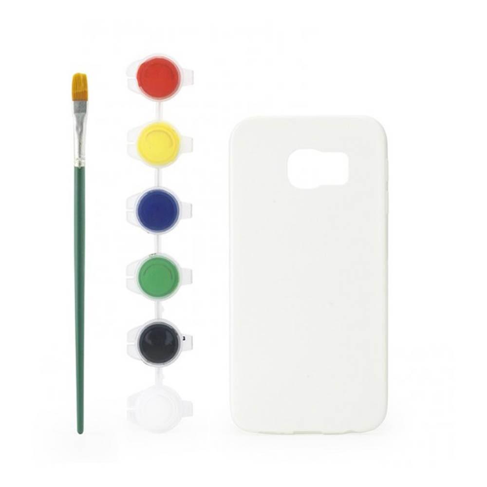 anpassbare Hüllen zum ausmalen für Galaxy S6 Weiß Kikkerland