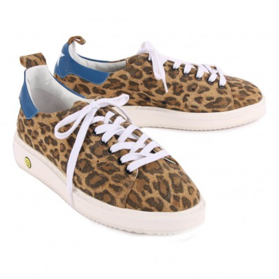 Golden Goose Deluxe Brand Starter Leopard Print Suede Trainers-listing