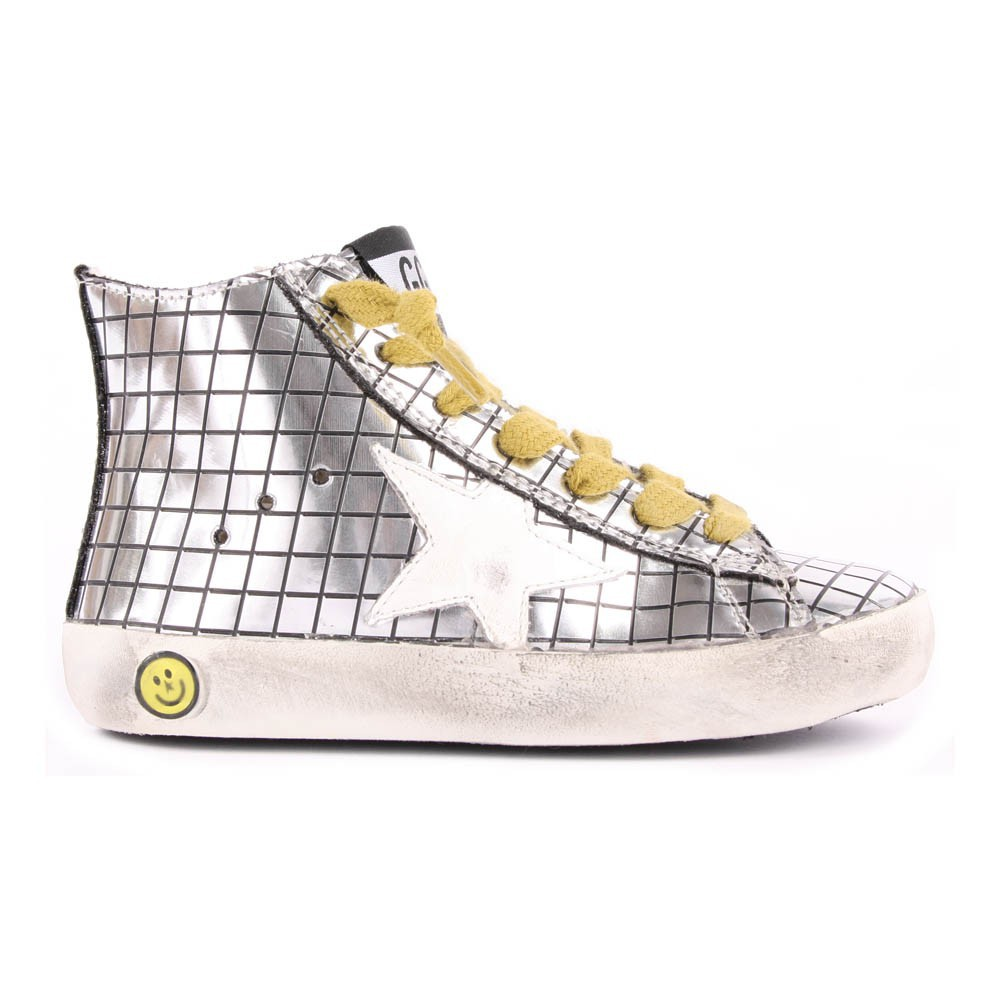 Sale - Francy Mirror Check Leather Trainers - Golden Goose Deluxe Brand Golden Goose