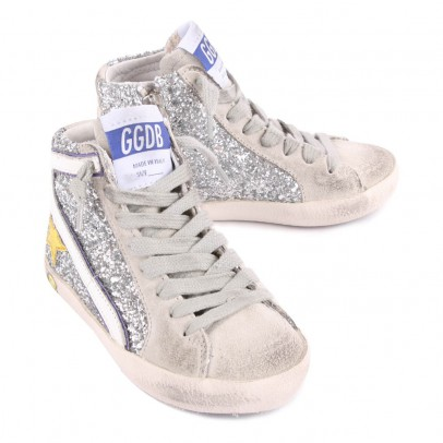 Golden Goose Slide Sequin Trainers with Zip-listing