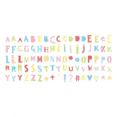 A little lovely company Set de 85 lettres funky couleur pour lightbox-listing