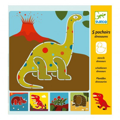 Djeco 5 pochoirs dinosaures-listing