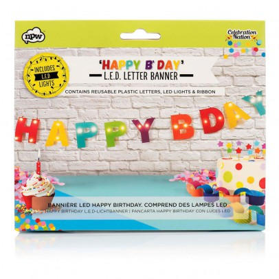 Smallable Toys Guirlande Happy Birthday avec LED-listing