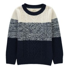 product-BARQUE Cable Knit Tricolour Jumper