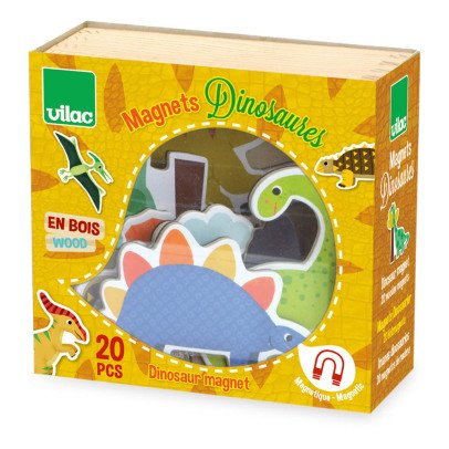 Vilac Dinosaur Magnets - 20 pcs Multicoloured-listing
