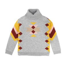 product-Chloé Geometric Pattern Polo Neck Pullover