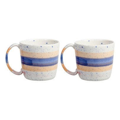Klevering Mugs brush - Set de 2  Bleu-listing