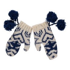 product-Quenotte Dusty Jacquard Alpaca and Wool Mittens