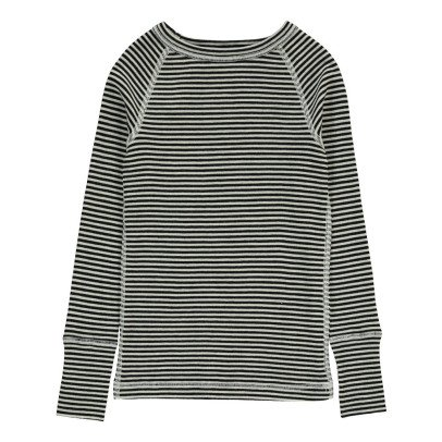 Nui Striped Organic Merino Wool T-Shirt-listing