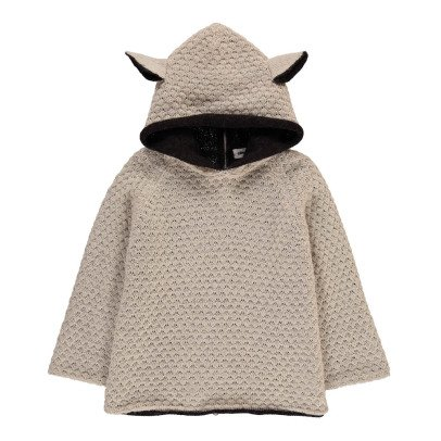 Oeuf NYC Alpaca Baby Burnous with Sheepskin Hood-listing