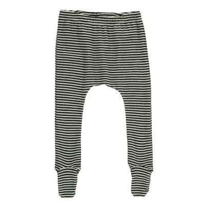 Nui Stripe Ribbed Organic Merino Wool Trousers with Feet-listing