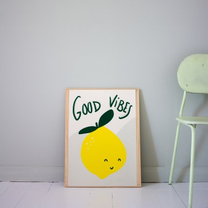 Mathilde Cabanas Affiche Good vibes Multicoloured-listing