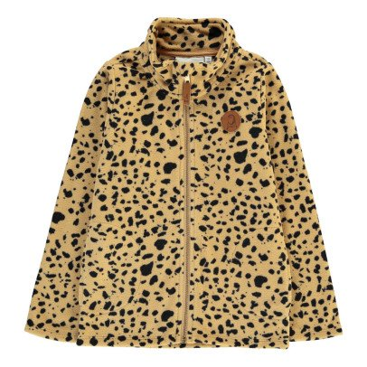 Mini Rodini Zip-Up Leopard Fleece-listing