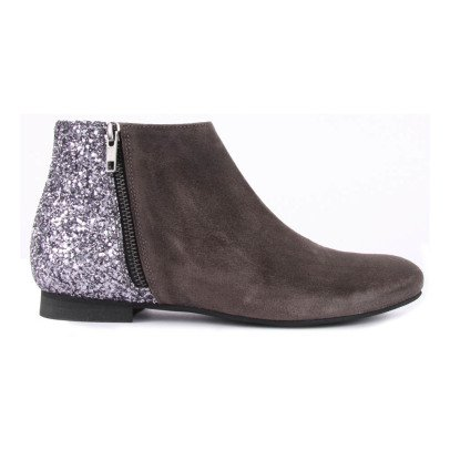 Manuela de Juan  Jenifer Suede and Sequin Back Boots with Zip-listing