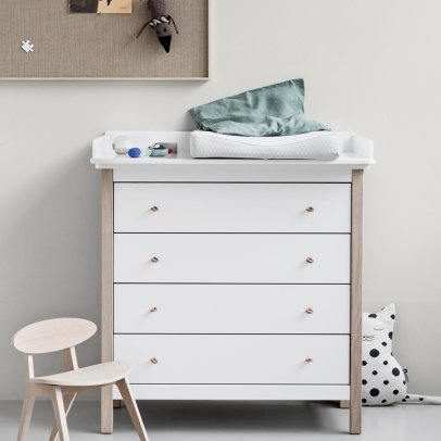 Oliver Furniture Baby Changing Oak Dresser Wood-listing