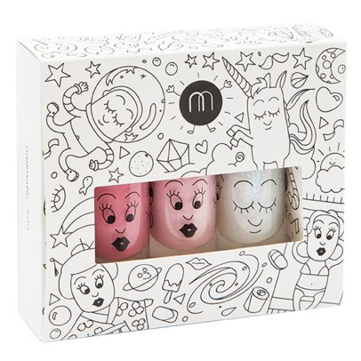 Nailmatic Kids Cosmos Set of 3 Nail Varnishes-listing