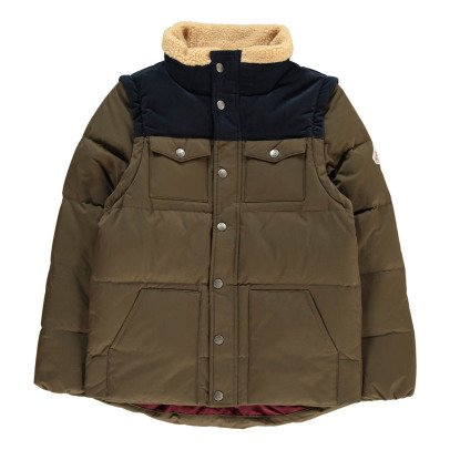 Pyrenex Two-Tone Thibault Down Jacket with Detachable Sleeves-listing