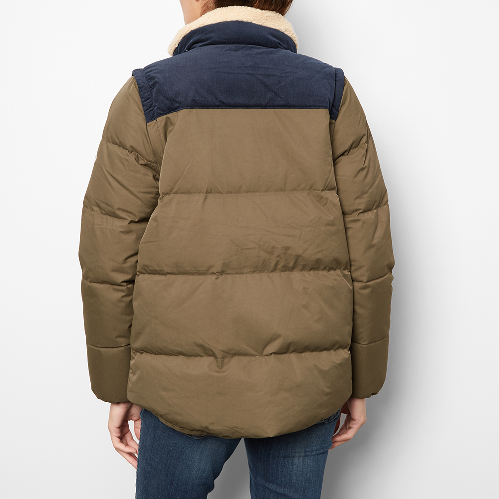 Two-Tone Thibault Down Jacket with Detachable Sleeves-product