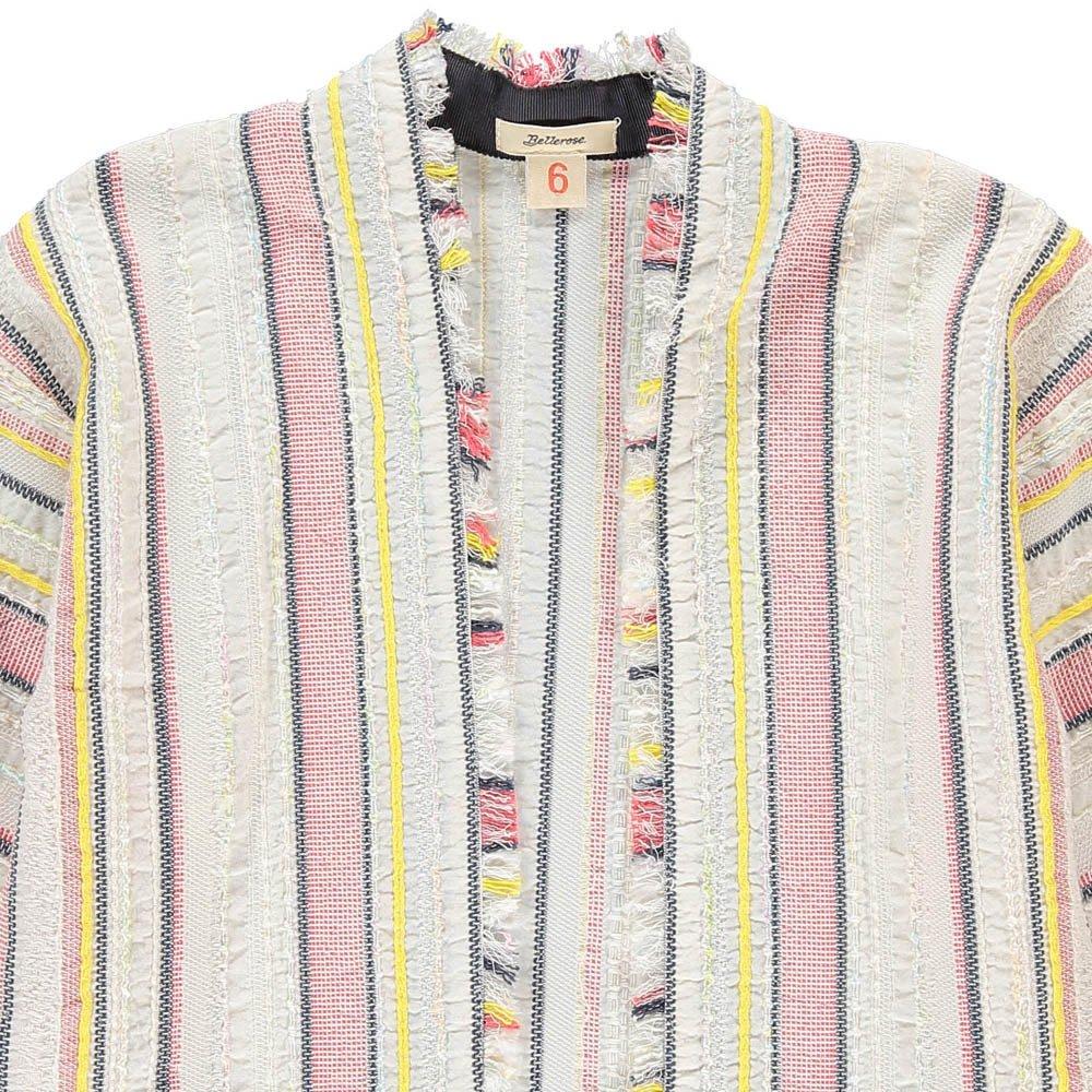Abriga Striped Kimono Jacket Ecru Bellerose Fashion Teen ,
