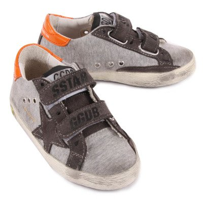 Golden Goose Old School Velcro Jersey Trainers-listing