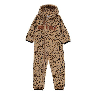 Mini Rodini Hooded Fleece Leopard Romper-listing