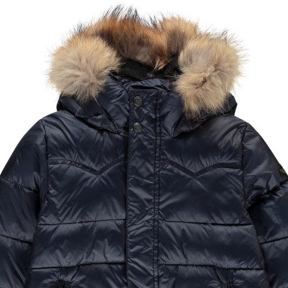 Finger in the nose Snowslope Fur Hooded Down Jacket Noir-listing