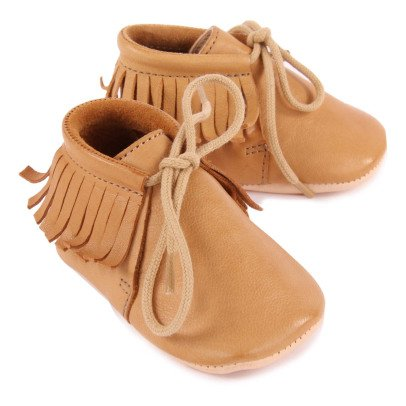 Easy Peasy Pen Meximoo Leather Lace-up Slippers-listing
