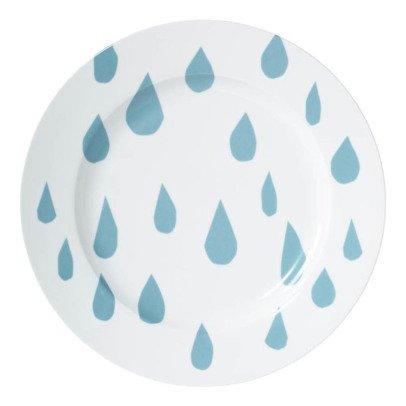 Grande assiette en céramique Gouttes de pluie